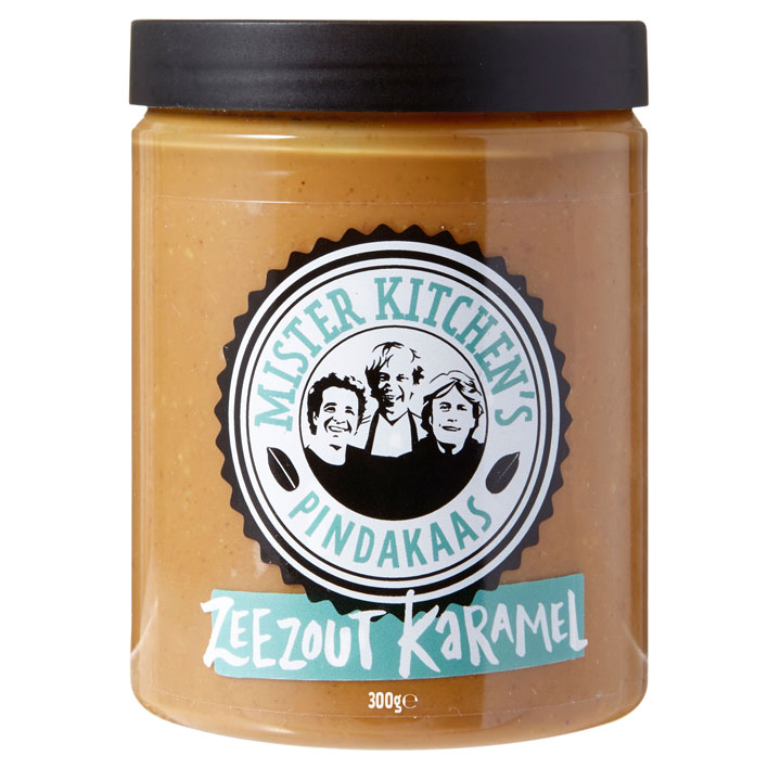 karamel zeezout koekjes pindakaas