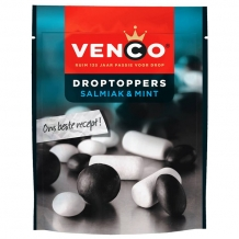 Venco Droptoppers Salmiak & Mint (287 gr.)