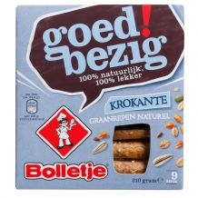Bolletje Krokante reep naturel (225 gr.)