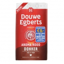 Douwe Egberts Aroma rood donker snelfiltermaling (250 gr.)